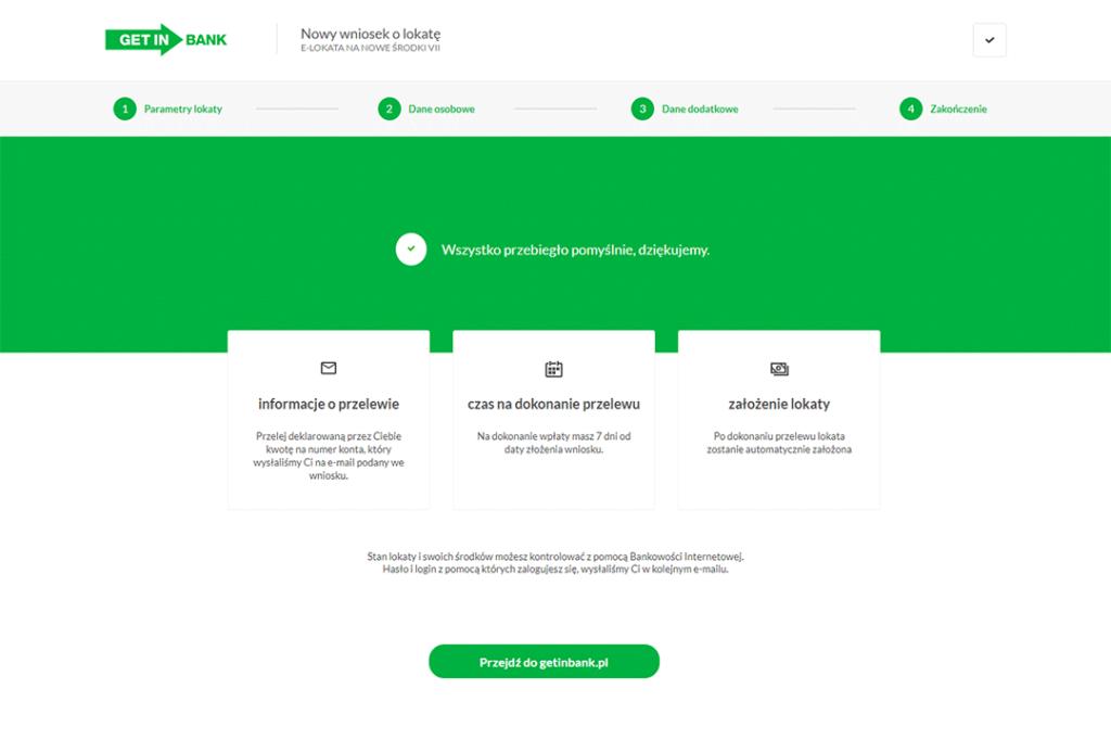 Getin Bank e-lokata 3,5% wniosek krok 4