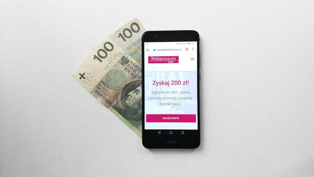 200 zł za założenie konta w Banku Millennium